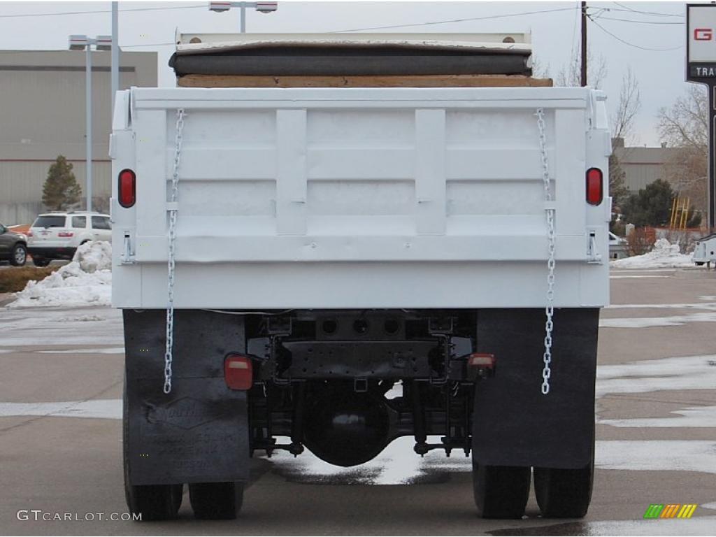 2004 C Series Kodiak C6500 Regular Cab Dump Truck - Summit White / Black photo #6