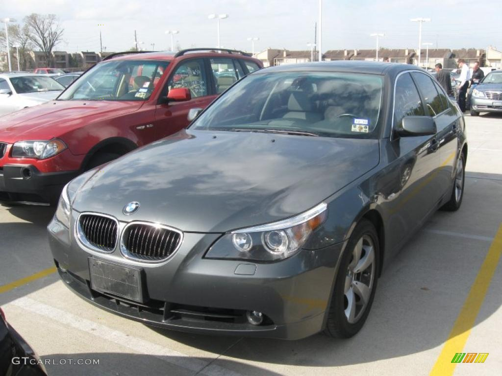 2005 titanium grey metallic bmw 5 series 525i sedan #26460384