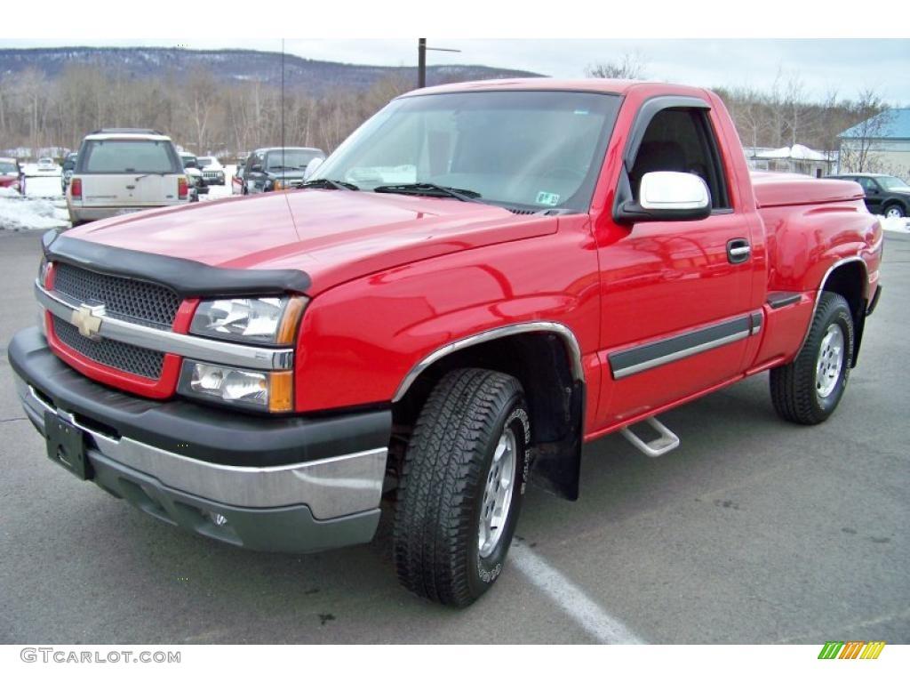 2003 victory red chevrolet silverado 1500 z71 regular cab 4x4 26460092 car. Black Bedroom Furniture Sets. Home Design Ideas