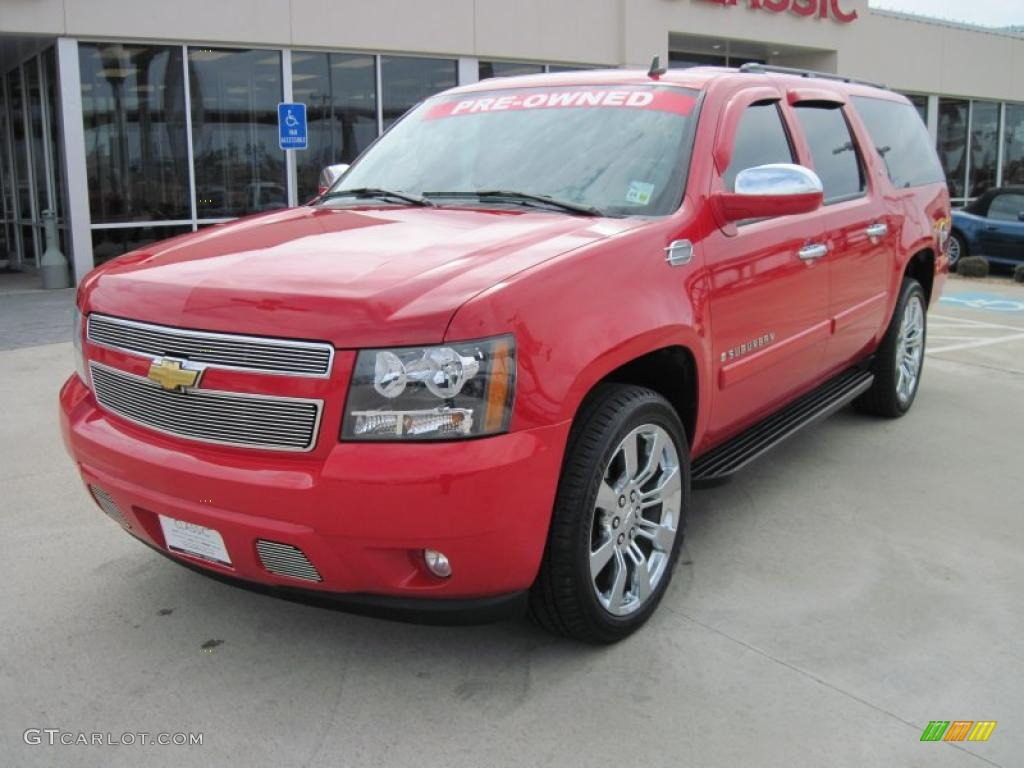 Chevy Dealers In Chattanooga Tn 2008 Victory Red Chevrolet Suburban 1500 LT #26505511 | GTCarLot.com ...