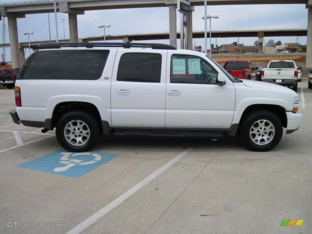 2003 suburban 1500 z71 4x4 summit white tan neutral photo 4