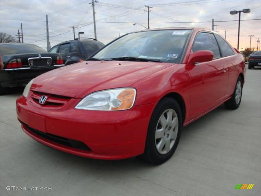 Honda civic 2002 ex red