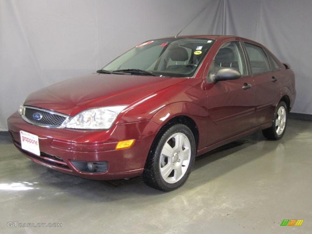 2006 dark toreador red metallic ford focus zx4 ses sedan 26505444 car color. Black Bedroom Furniture Sets. Home Design Ideas