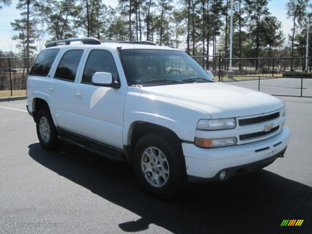 2003 Chevrolet Tahoe Z71 4x4 Summit White Color Gray Dark Charcoal