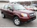 2007 Dark Cherry Pearl Honda Pilot LX 4WD  photo #3