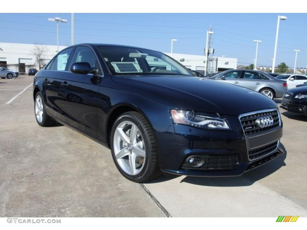 2010 deep sea blue pearl effect audi a4 2 0t quattro sedan 26549249 car color. Black Bedroom Furniture Sets. Home Design Ideas