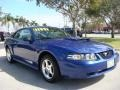 2003 Sonic Blue Metallic Ford Mustang V6 Coupe  photo #1
