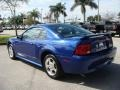 2003 Sonic Blue Metallic Ford Mustang V6 Coupe  photo #5