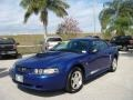 2003 Sonic Blue Metallic Ford Mustang V6 Coupe  photo #7