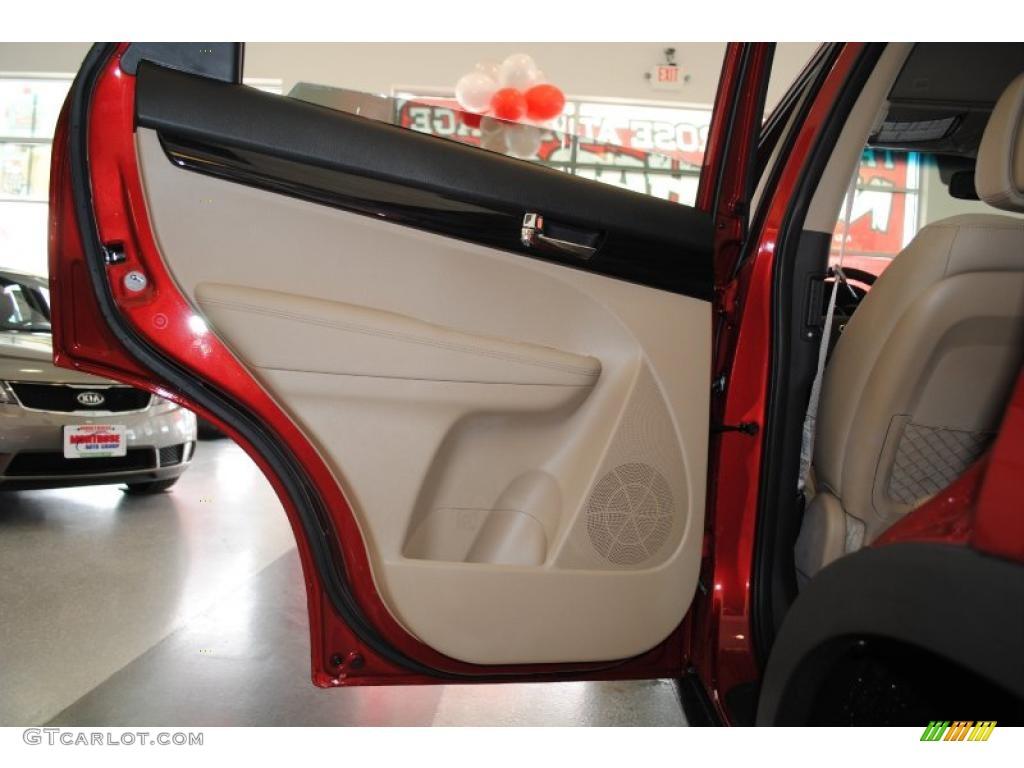 2011 Sorento EX - Spicy Red / Beige photo #49
