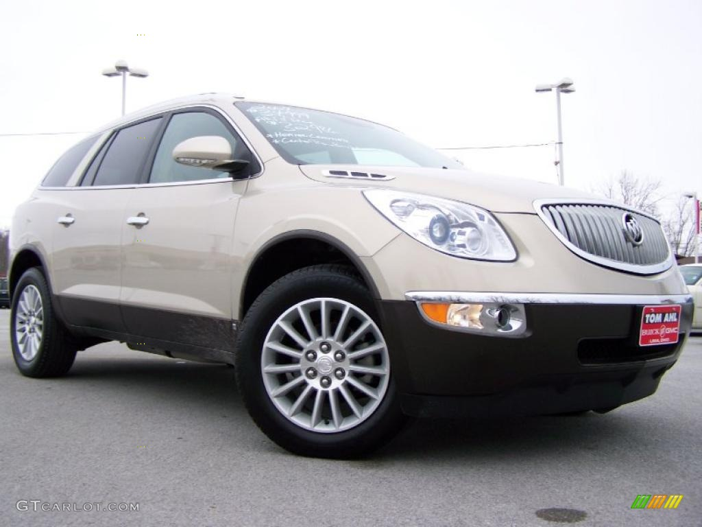 2009 Enclave CXL - Gold Mist Metallic / Cocoa/Cashmere photo #1