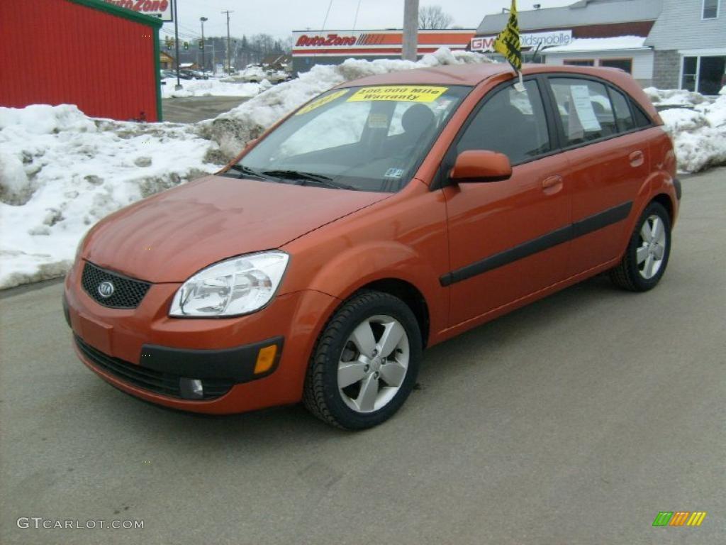 2007 Sunset Orange Kia Rio Rio5 Sx Hatchback 26549209 Gtcarlot