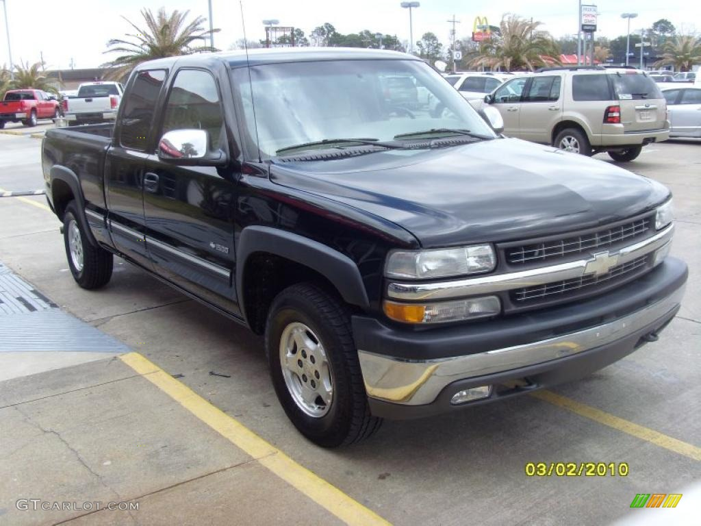 2002 Silverado 1500 LS Extended Cab 4x4 - Onyx Black / Tan photo #5