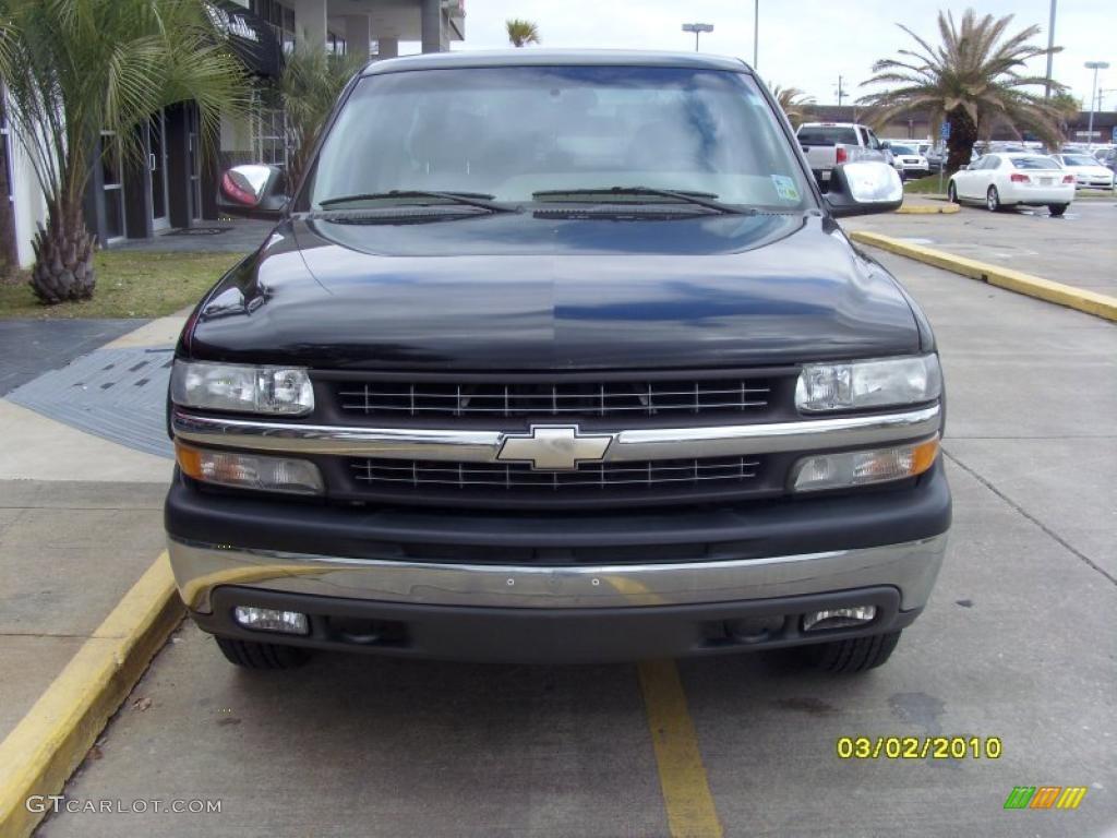 2002 Silverado 1500 LS Extended Cab 4x4 - Onyx Black / Tan photo #6