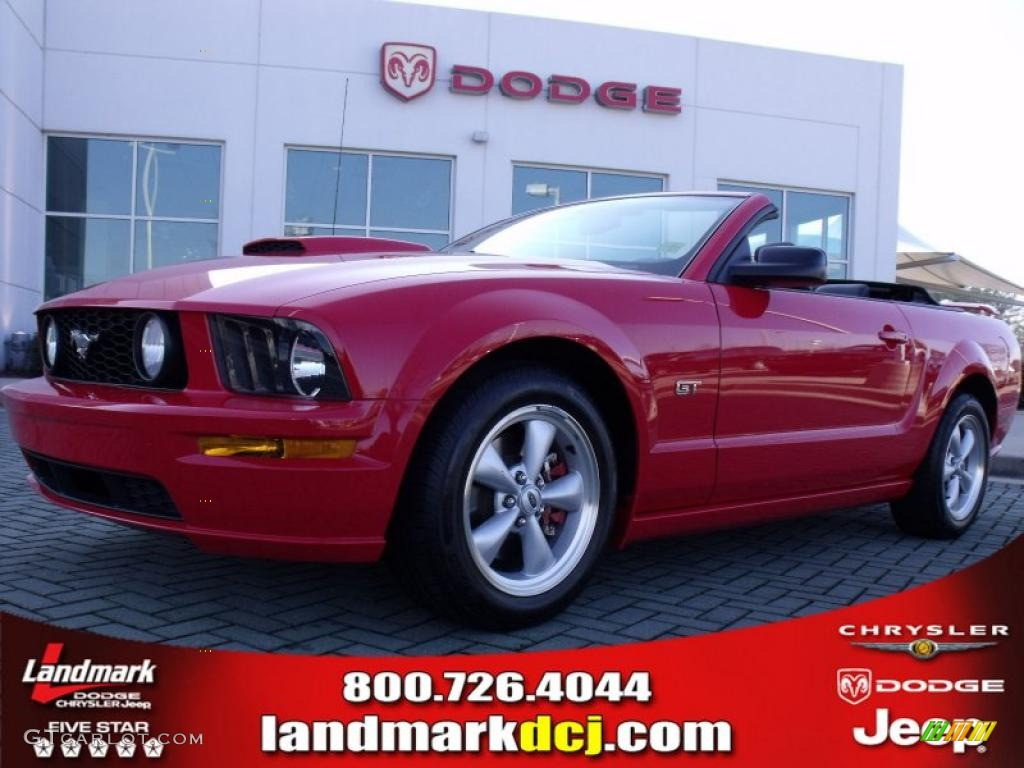 2007 Mustang GT Premium Convertible - Torch Red / Charcoal photo #1