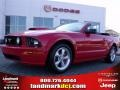 2007 Torch Red Ford Mustang GT Premium Convertible  photo #1