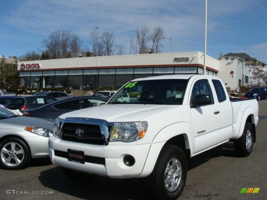2005 super white toyota tacoma access cab 4x4 26595422. Black Bedroom Furniture Sets. Home Design Ideas