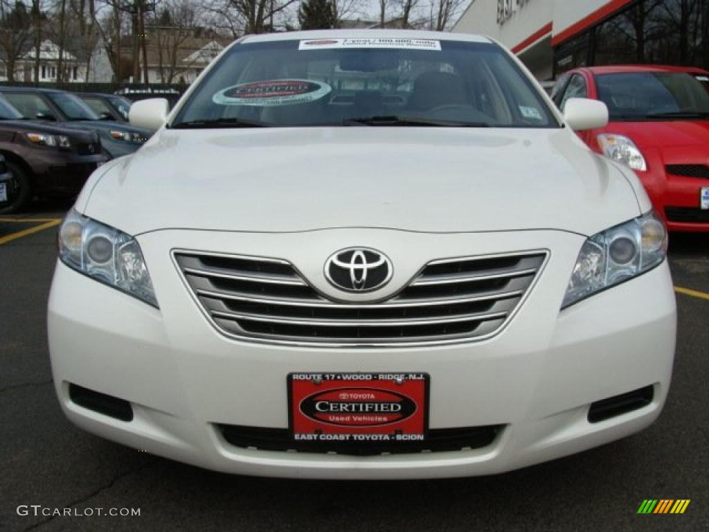 2007 blizzard white pearl toyota camry hybrid 26595298 photo 2 car color. Black Bedroom Furniture Sets. Home Design Ideas