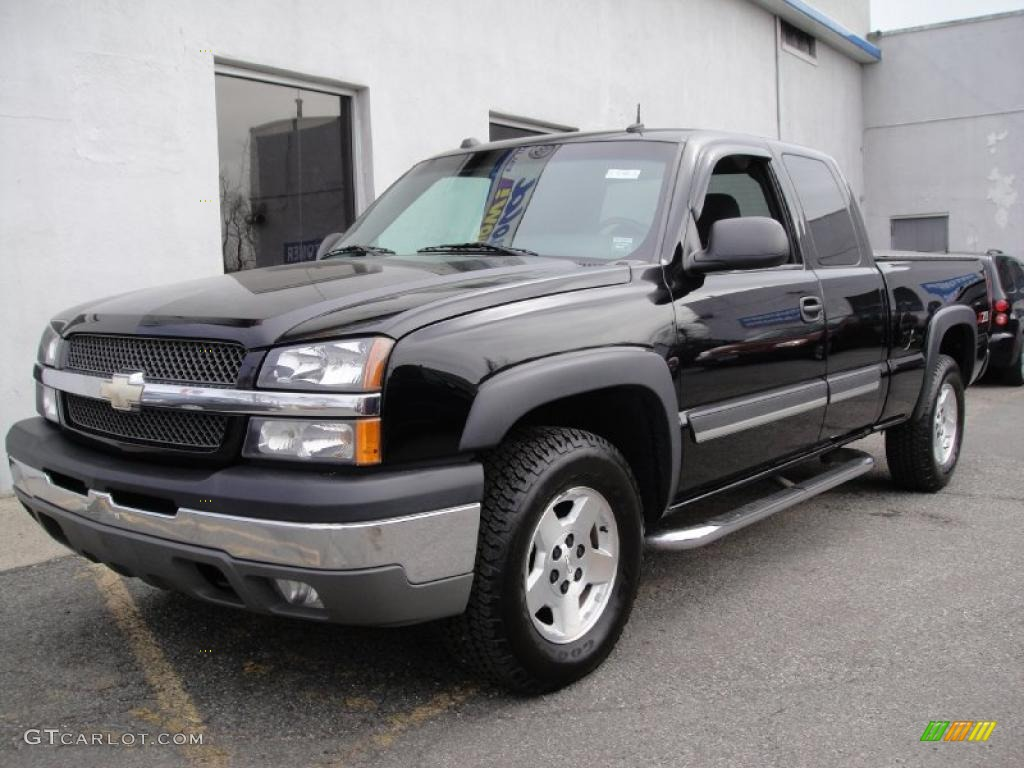 2004 black chevrolet silverado 1500 z71 extended cab 4x4. Black Bedroom Furniture Sets. Home Design Ideas