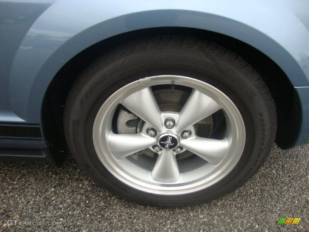 2007 Mustang V6 Premium Coupe - Vista Blue Metallic / Light Graphite photo #23