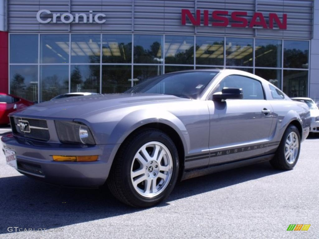 2007 Mustang V6 Premium Coupe - Tungsten Grey Metallic / Black/Dove Accent photo #1