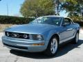 2007 Windveil Blue Metallic Ford Mustang V6 Premium Convertible  photo #1