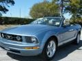 2007 Windveil Blue Metallic Ford Mustang V6 Premium Convertible  photo #13