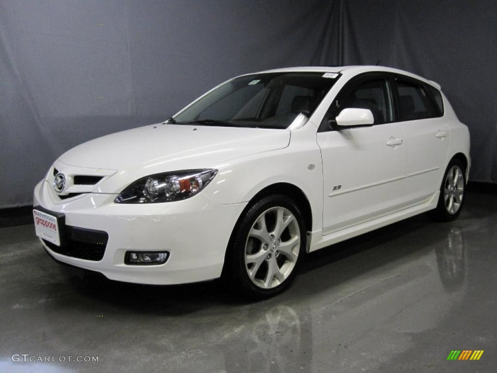 2008 rally white mazda mazda3 s grand touring hatchback 26595536 car color. Black Bedroom Furniture Sets. Home Design Ideas