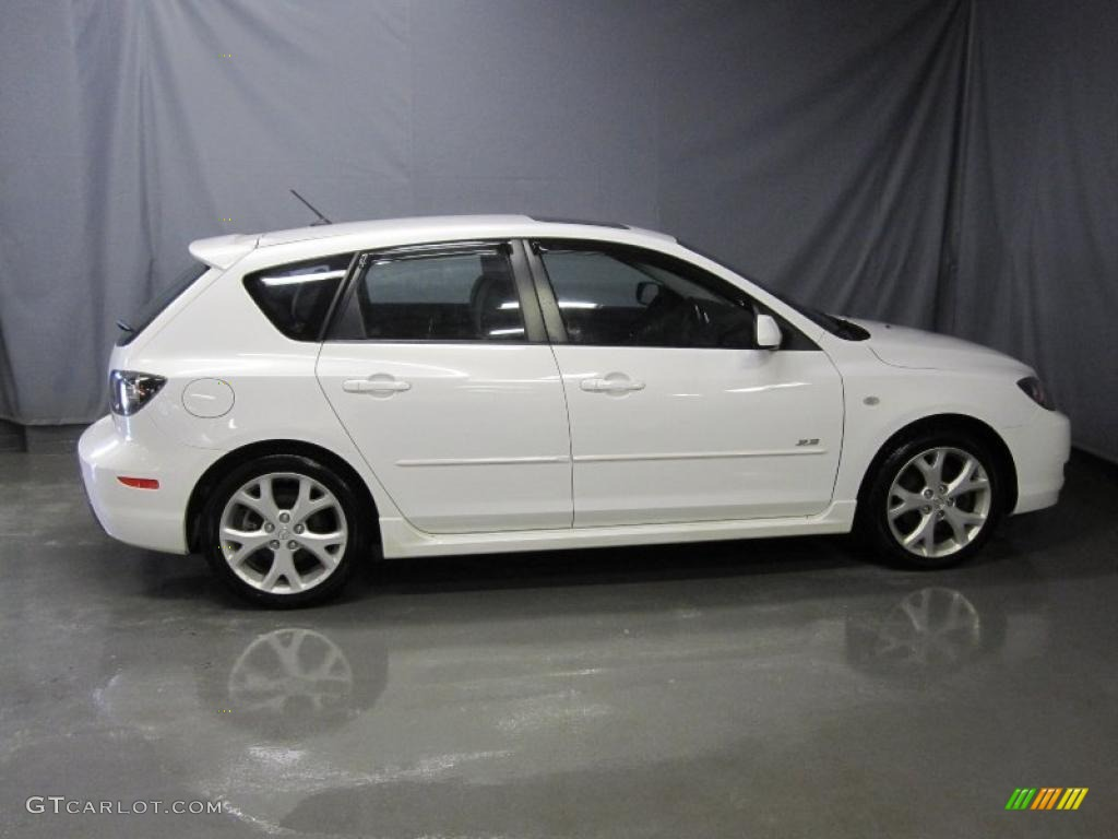 2008 rally white mazda mazda3 s grand touring hatchback 26595536 photo 4 car. Black Bedroom Furniture Sets. Home Design Ideas