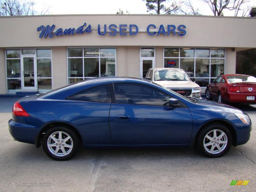 Lovely 2003 Accord EX V6 Coupe   Sapphire Blue Pearl / Black Photo #1