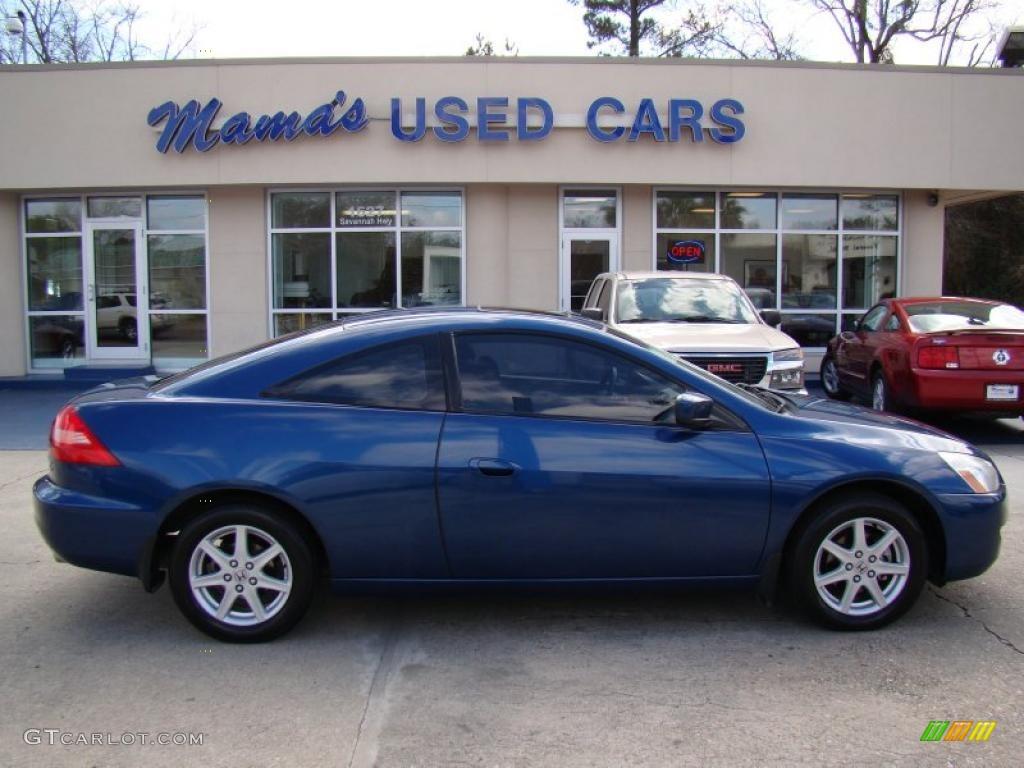 2003 Accord EX V6 Coupe   Sapphire Blue Pearl / Black Photo #1