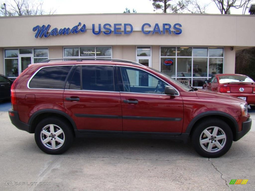2004 ruby red metallic volvo xc90 2 5t awd 26673240 photo 14 car color galleries. Black Bedroom Furniture Sets. Home Design Ideas