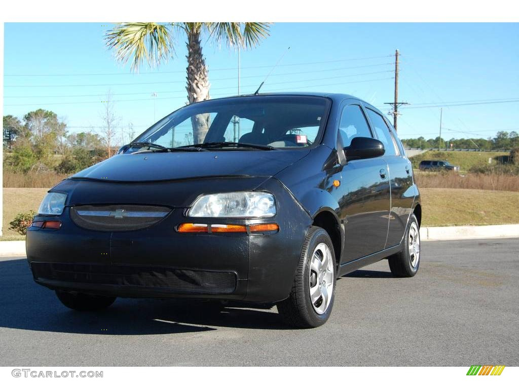 2004 Aveo Hatchback - Black / Gray photo #1