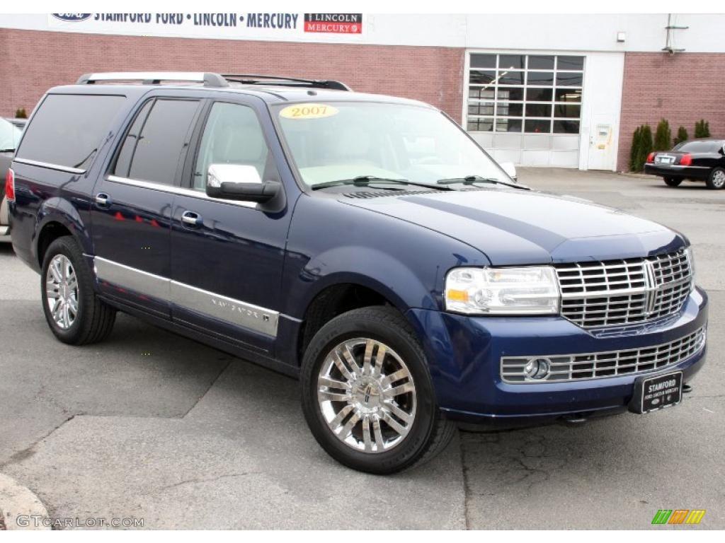 2007 Dark Blue Pearl Metallic Lincoln Navigator L Luxury 4x4 26743853 Photo 3
