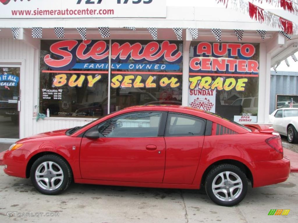 2004 chili pepper red saturn ion 3 quad coupe 26744040 photo 22 chili pepper red saturn ion vanachro Images