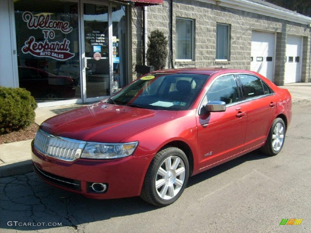 2008 MKZ AWD Sedan - Vivid Red Metallic / Dark Charcoal photo #1