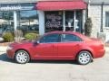 2008 Vivid Red Metallic Lincoln MKZ AWD Sedan  photo #2