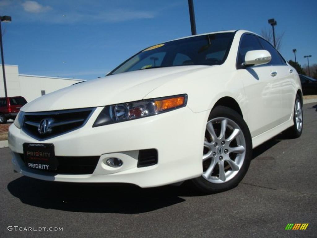 2008 TSX Sedan - Premium White Pearl / Parchment photo #1