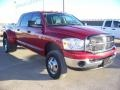 2007 Inferno Red Crystal Pearl Dodge Ram 3500 SLT Mega Cab 4x4 Dually  photo #9