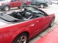 2001 Laser Red Metallic Ford Mustang GT Convertible  photo #55