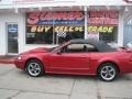 2001 Laser Red Metallic Ford Mustang GT Convertible  photo #59