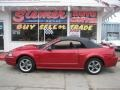 2001 Laser Red Metallic Ford Mustang GT Convertible  photo #61
