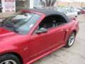 2001 Laser Red Metallic Ford Mustang GT Convertible  photo #62