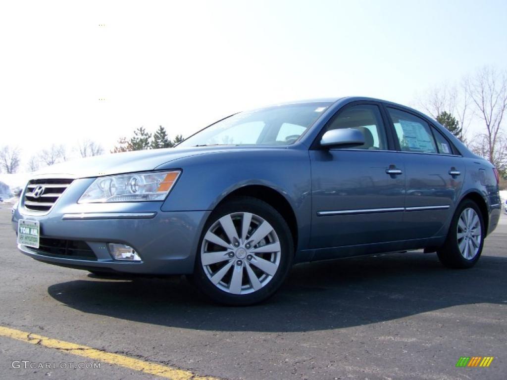 2010 Medium Silver Blue Hyundai Sonata Limited V6 26777964 Photo 5