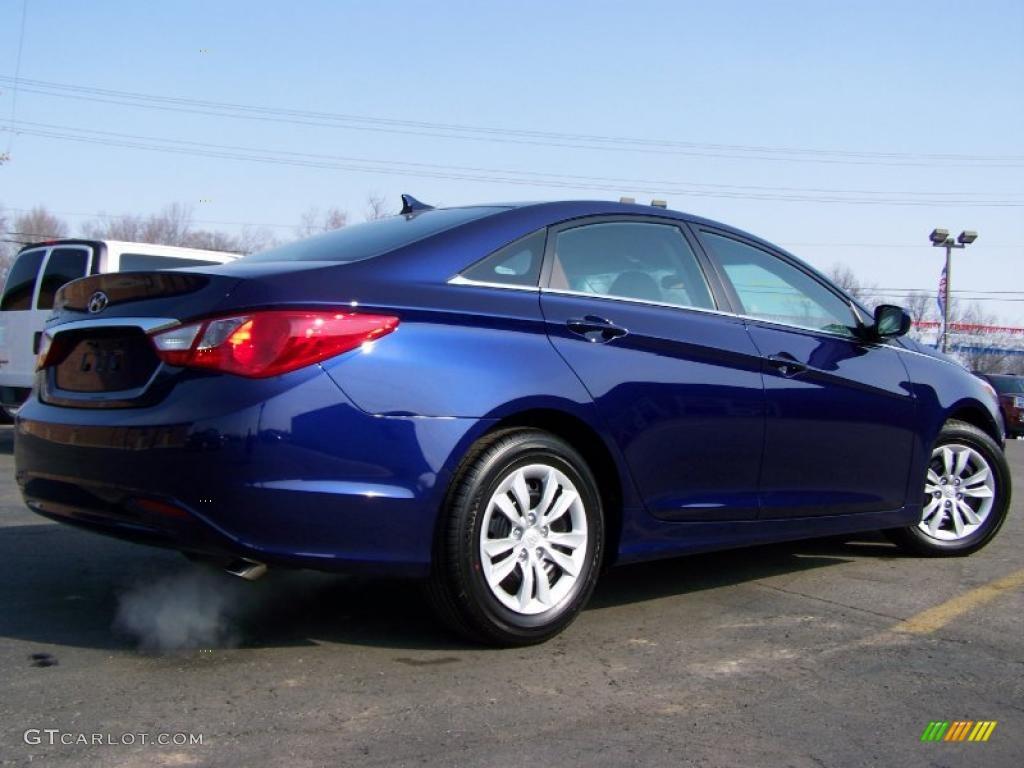2011 Indigo Blue Pearl Hyundai Sonata Gls 26777981 Photo