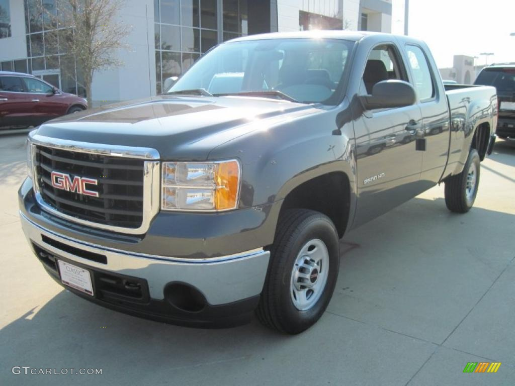 2010 steel gray metallic gmc sierra 2500hd work truck. Black Bedroom Furniture Sets. Home Design Ideas