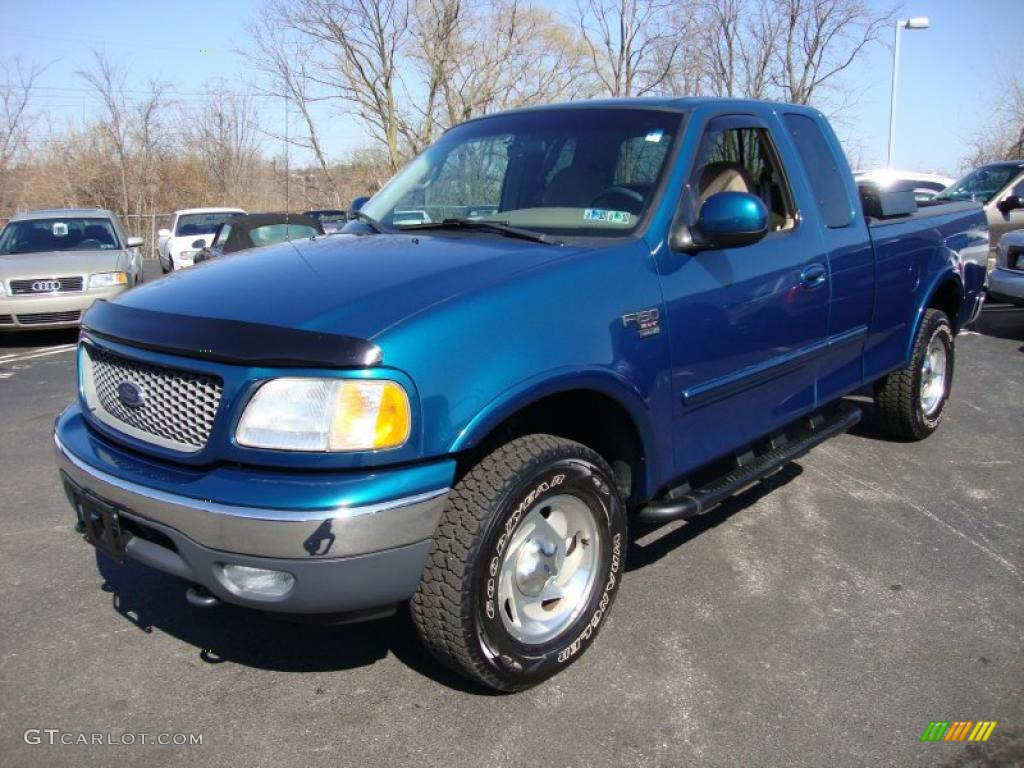 island blue metallic 2000 ford f150 xlt extended cab 4x4 exterior photo 26836662. Black Bedroom Furniture Sets. Home Design Ideas