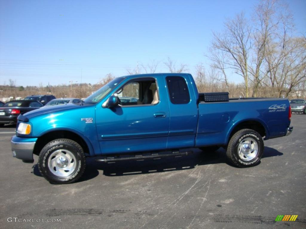 island blue metallic 2000 ford f150 xlt extended cab 4x4 exterior photo 26836794. Black Bedroom Furniture Sets. Home Design Ideas