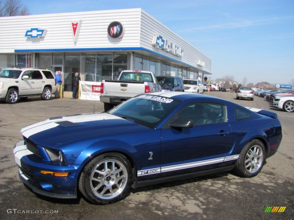 Vista Blue Metallic Ford Mustang Shelby Gt500 Coupe