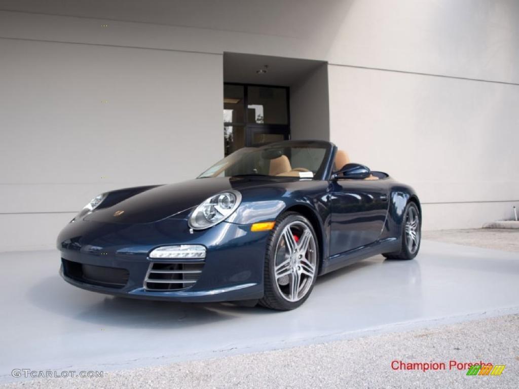 2010 Dark Blue Metallic Porsche 911 Carrera 4s Cabriolet 26832001 Gtcarlot Com Car Color